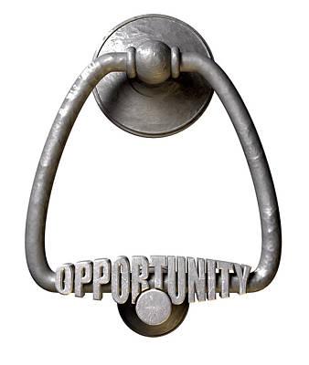 Opportunity Knocks Door Knocker Poster by Allan Swart