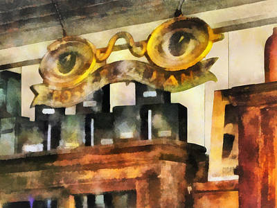 Optometrist - Spectacles Shop Poster by Susan Savad