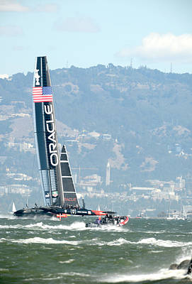 Oracle Team Usa Poster by Gary Hromada
