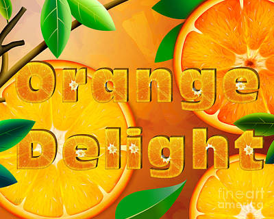 Orange Delight Poster by Bedros Awak