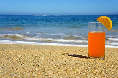 Orange Juice Poster by Aged Pixel