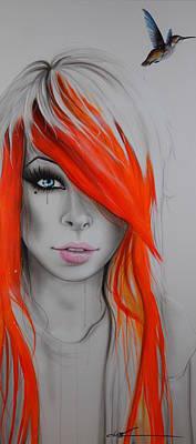 Portrait - 'orange Nectar' Poster by Christian Chapman Art