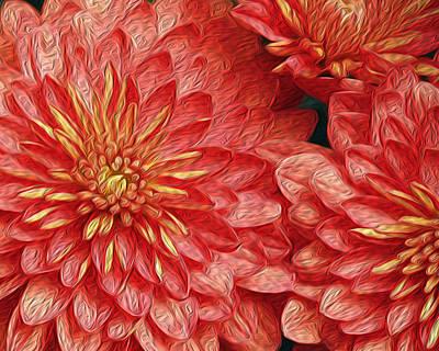 Orange Petals Poster by Jaki Miller