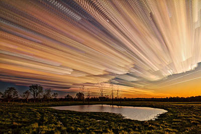 Orange Sky Poster by Matt Molloy