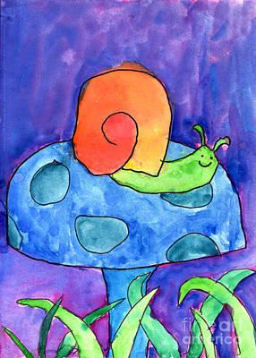 Orange Snail Poster by Nick Abrams Age Twelve