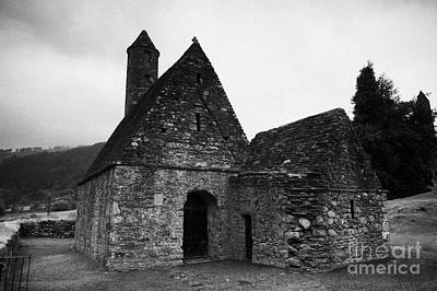 Oratory Known As St Kevins Kitchen Glendalough Monastery County Wicklow Republic Of Ireland Poster by Joe Fox
