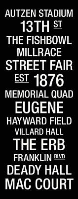 Oregon College Town Wall Art Poster by Replay Photos