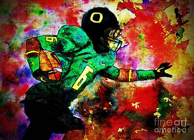 Oregon Football 3 Poster by Michael Cross