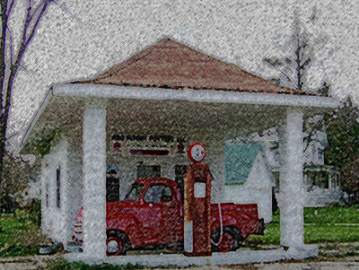 Orfordville Gas Station Poster by Dennis Buckman
