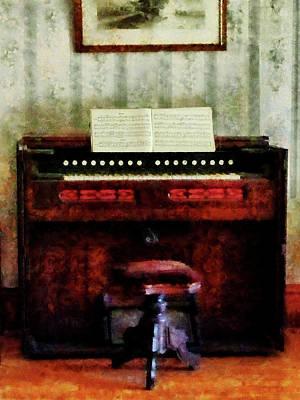 Organ And Swivel Stool Poster by Susan Savad
