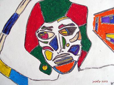 Organ Donation Face Part One 2012 Poster by Sir Josef Social Critic - ART