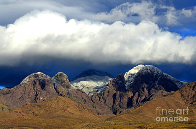 Organ Mountains Beauty Of Clouds Poster by Bob Christopher