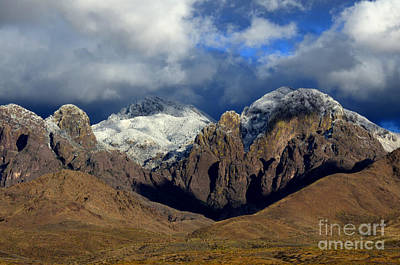 Organ Mountains Rugged Beauty Poster by Bob Christopher
