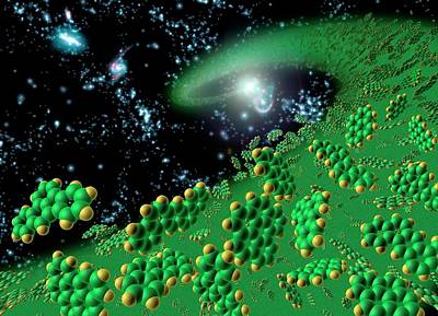 Organic Molecules In Early Universe Poster by Nasa/jpl-caltech/t. Pyle (ssc)