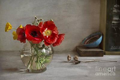 Oriental Poppies Poster by Elena Nosyreva