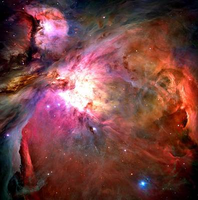 Orion Nebula Close Up 1-2-14 Poster by L Brown