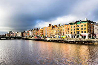 Ormond Quay In Dublin Ireland Poster by Mark E Tisdale