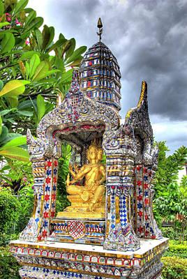 Ornate Buddhist Shrine, Wat Poster by Jaynes Gallery