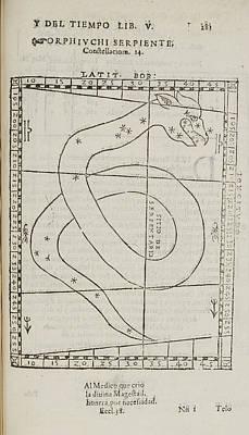 Orphiuchi Serpiente Star Constellation Poster by British Library