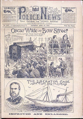 Oscar Wilde Trial Poster by British Library