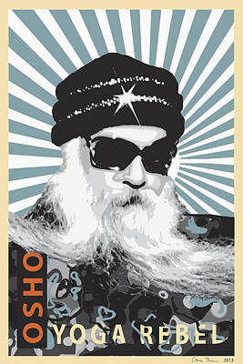 Osho Yoga Rebel Poster by Chris Brown