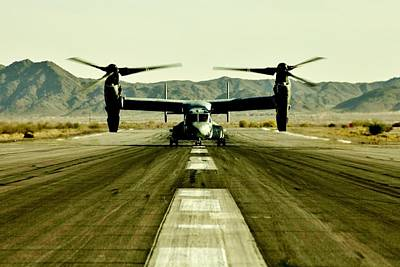 Osprey Takeoff Poster by Benjamin Yeager