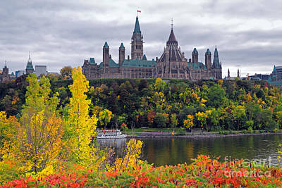Ottawa Parliament Hill Poster by Charline Xia