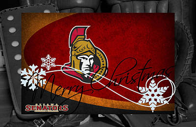 Ottawa Senators Christmas Poster by Joe Hamilton
