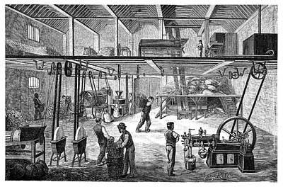 Otto Engine On A Farm Poster by Science Photo Library
