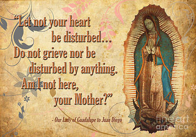 Our Lady Of Guadalupe Poster by Flamingo Graphix John Ellis
