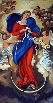 Our Lady Undoer Of Knots Poster by Valerie Vescovi