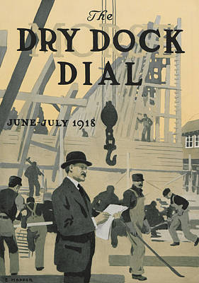 Our New Dry Dock Poster by Edward Hopper