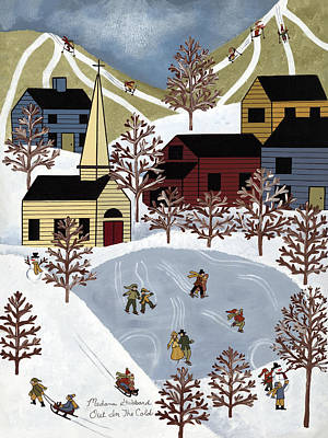 Out In The Cold Poster by Medana Gabbard