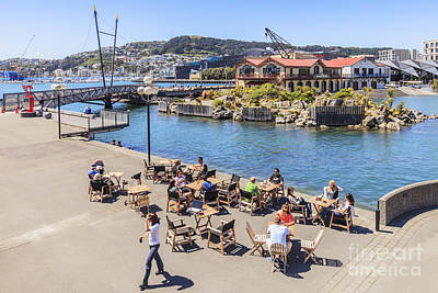 Outdoor Cafe Wellington New Zealand Poster by Colin and Linda McKie