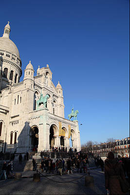 Outside The Basilica Of The Sacred Heart Of Paris - Sacre Coeur - Paris France - 01136 Poster by DC Photographer