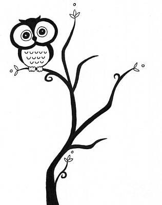 Owl Poster by Jennifer Kimberly