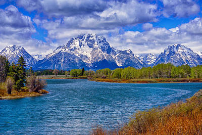 Oxbow Bend In Spring Poster by Greg Norrell