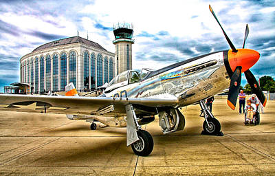 P-51 At Dupage Poster by Chas Burnam