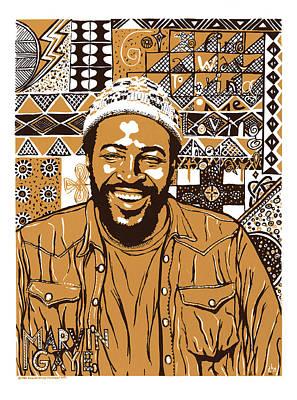 Marvin Gaye Poster by Ricardo Levins Morales