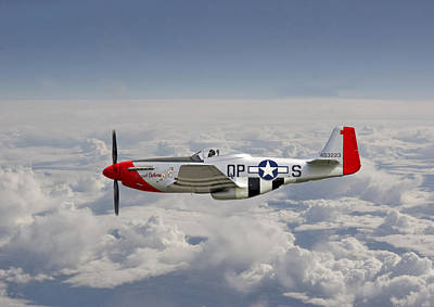 P51 Mustang Gallery - No4 Poster by Pat Speirs