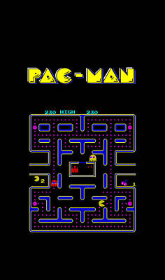 Pac Man Phone Case Poster by Mark Rogan