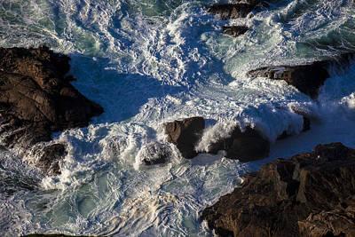 Pacific Ocean Against Rocks Poster by Garry Gay