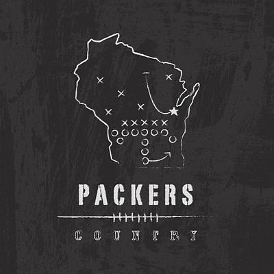 Packers Country Poster by Damon Gray