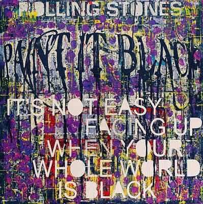 Paint It Black Poster by Frank Van Meurs