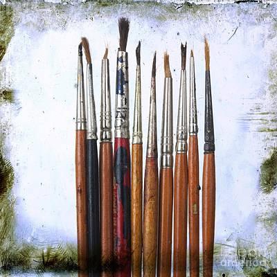Paintbrushes Poster by Bernard Jaubert