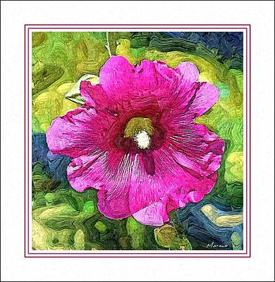 Painted Hibiscus Poster by Barry Monaco