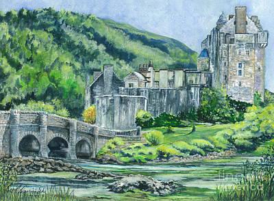 Eilean Donan Medieval Castle Scotland Poster by Carol Wisniewski