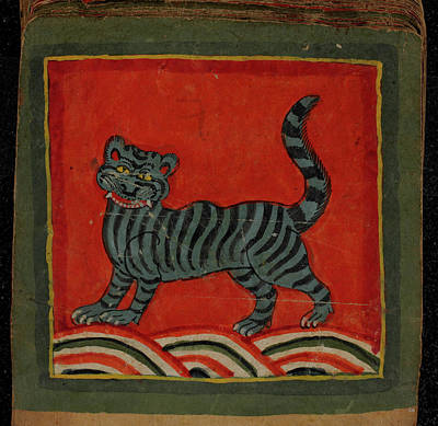 Painting Of A Member Of The Cat Family Poster by British Library