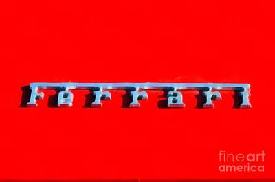 Painting Of Ferrari Logo Poster by George Atsametakis