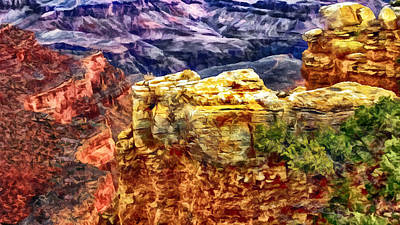 Painting Of The Grand Canyon Poster by Bob and Nadine Johnston